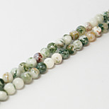 Beadia 39Cm/Str (Approx 98Pcs) Natural Tree Agate Beads 4mm Round Stone Loose Beads DIY Accessories