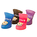 Red/Black/Blue/Yellow/Purple Waterproof Mixed Material Socks & Boots For Dogs