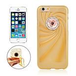 angibabe transparente la mode grande TPU de diamant de cas gelée molle pour iPhone6 (de couleurs assorties)