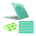 3 in 1 Crystal Case with Keyboard Cover and Silicone Dust Plug for Macbook Air 13.3