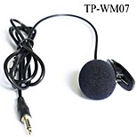 Top Quality Cardioid Lapel Tie Clip-on Lavalier Condenser Microphone 1/8