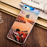 Town Corner Pattern TPU Soft Case for iPhone 5/5S