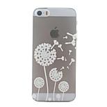 White Dandelion Pattern Ultrathin Hard Back Cover Case for iPhone 5/5S