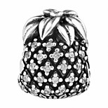Pineapple silver beads for bracelet and necklace