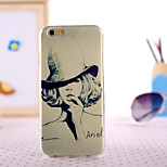 Sexy Gril Painting Ultrathin TPU with Plastic for iPhone 6