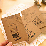 Hand-Painted Kraft Paper Creative Notebook(Random Color)