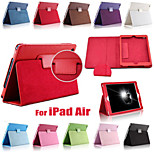 Solid Color PU Leather Auto Sleep/Wake Up Full Body Case with Stand for iPad Air (Assorted Colors)