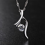 Japan and South Korea   S925 Silver  Crystal Necklace