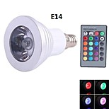 NO E14 3 W 1 90 lm LM Blue/Cool White Dimmable/Remote-Controlled Spot Lights AC 85-265 V