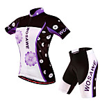 WOSAWE Cycling Outdoor Sports Short Sleeve Jersey Shirt Top Shorts Set Suit Woman