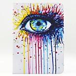 patrón de ojo de la PU cuero caso de cuerpo completo con soporte para iPad 2 ipad aire 6