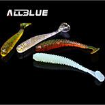 alta calidad suaves señuelos de pesca de 50 mm / 0,6 g cebo suave magia 80pcs pescado / lot t de pescado gusano cola