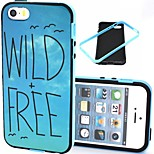 2-in-1 Wild Free Bird Pattern TPU Back Cover with PC Bumper Shockproof Soft Case for iPhone 5/5S