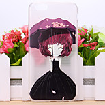 Sakura Flower Girl Pattern TPU Case for iPhone 6