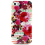 diseño de moda Coco Fun® patrón de flor roja grande del tpu suave imd cubierta trasera del caso para el iphone 5 / 5s