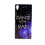 COCO FUN® Walking In The Rain Pattern Soft TPU IMD Back Case Cover for Sony M4
