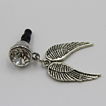 Fashion Alloy Silver Wing Pendant Dust Plug General Type