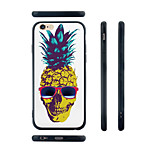 Pineapple Skull Pattern Transparent Silica Gel Edge Back Case for iPhone 6