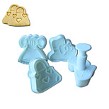 4PCS Clothes  Pattern Cake and Cookie Cutter Mold