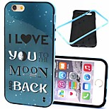 2-in-1 I Love You to the Moon and Back Pattern TPU Back Cover with PC Bumper Shockproof Soft Case for iPhone 6