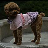 PETSOO Leopard Printing Cute Princess Winter Dog Clothing
