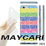 MAYCARI®Colorful Ripples Pattern TPU Soft Transparent Back Case for iPhone 6