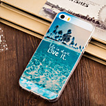 Palm Beach Pattern TPU Soft Case for iPhone 5/5S