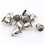 10PCS Cup Metal Jewelry End Caps Beads Findings 0.51x0.39