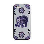 Elephant Pattern PC Phone Case For iPhone 5/5S