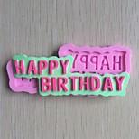 Happy Birthday Shaped Fondant Cake Chocolate Silicone Mold, Decoration Tools Bakeware