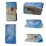 Nice Balloon and Geese Fly Double Side Pattern Leather PU Cover Case with Stand for iPhone 6G