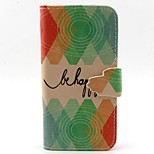 Round Pattern PU Leather Material Card Full Body Case for iPhone 5/5S