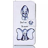 Two Dumbo Pattern PU Leather Painted Phone Case For iPhone 6