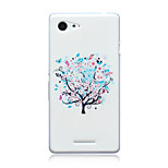 White Trees Pattern TPU Soft Back Cover Case for Sony Xperia E3