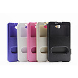Window Silk Printing Flip Cover Simple Pu Mobile Phone Shell for Sony M2/E3/E4 Assorted Colors