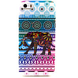 Fashion Design COCO FUN® Colorful Elephant Tribal Pattern Soft TPU IMD Back Case Cover for iPhone 5/5S