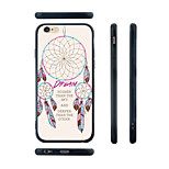 Dream Catcher Pattern Transparent Silicone Rubber Edge Hard Back Case for iPhone 6
