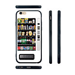 Vending Machine Pattern Silicone Rubber Edge Hard Back Case for iPhone 6