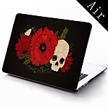 Flower and Skull Design Full-Body Protective Case for 11-inch/13-inch New MacBook Air