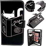 Cat Pattern with Card Bag Full Body Case for iPhone 6