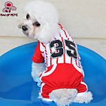 FUN OF PETS® Fashionable Vertical Stripe Pattern Cotton Tracksuit for Pets Dogs (Assorted Colors and Sizes)