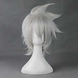 Cosplay Wigs SoulEater Cosplay White Short Anime Cosplay Wigs 30 CM Heat Resistant Fiber Male / Female