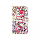 Smile Pattern PU Leather Phone Case For Nokia 640