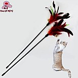 FUN OF PETS® Lovely Ring and Feather Shaped Playing Stick for Pet Cats