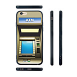 ATM Pattern Silicone Rubber Edge Hard Back Case for iPhone 6