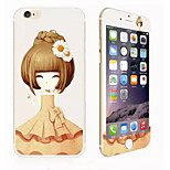 Chrysanthemum Girl Glitter HD Scratch-Proof Before Glass Protection Film for iPhone 6
