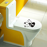 Wall Stickers Wall Decals, Lovely Cartoon Shit PVC Toilet Wall Sticker
