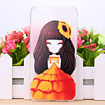 SunFlower Girl Pattern TPU Case for iPhone 6