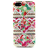 Fashion Design COCO FUN® Rose Tribal Pattern Soft TPU IMD Back Case Cover for iPhone 5/5S