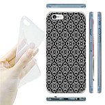 Black and white Argyle Pattern TPU Soft Back Case for iPhone 6